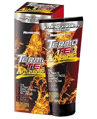 Crema termogenica brucia grassi drenante Termo Tec Advanced Nutrytec effetto strong addome, pancia, fianchi, glutei, cosce. Lipo-riducente ad effetto immediato contro cellulite