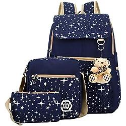 Rrimin Women's Combo Of 1 Backpack , 1 Cross Body Bag & 1 Wallet (Multicolor,105586)