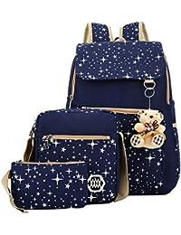 Set Of 3 In 1 Women's Combo Laptop Backpack , 1 Cross Body Bag & 1 Wallet For College