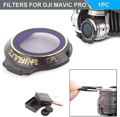 Flycoo Nouveau Design Filtres pour Mavic DJI Mavic pour Pro Drone Quadcopter en Verre Optique avec Cadre Etanche en Alliage d'Aluminium d7826b