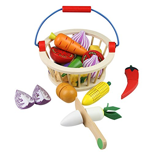 Wooden Vegetables Cutting Set Ma...