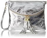 Bags4Less Damen Dubai Clutch, (Silber), 4x19x22 cm