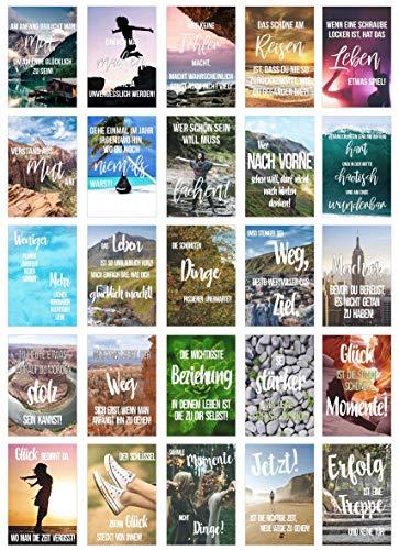 Juego 25 tarjetas postales vida momentos refranes