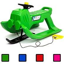 Slittino da neve snowbike JEPP CONTROL con pattino anteriore colore: verde - Volante Slitta