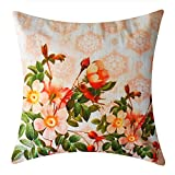 Shibori Fine designer Cushions-Wild Flowers Peach Printed Cushion Cover best price on Amazon @ Rs. 157