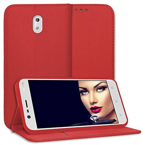 mtb more energy® Schutz-Tasche Bookstyle für Nokia 3 (5.0'') | rot | Kunstleder | Klapp-Cover Hülle Case