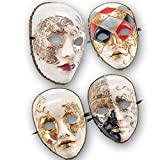 MASCHERA IN CARTAPESTA DECORATA ACCESSORI PER CARNEVALE