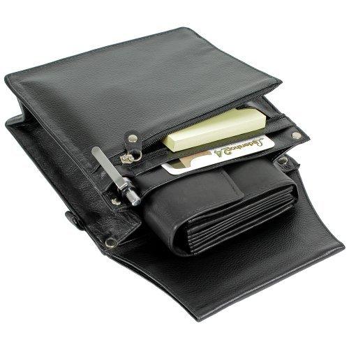 Ledershop24 Pochette pour serveur en cuir Taille XXL