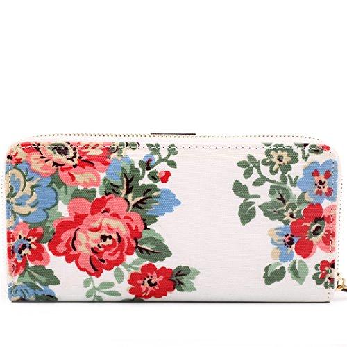 Miss Lulu , Damen Tote-Tasche Flower Purse White