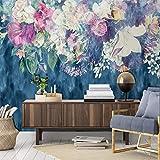Mural Fotomural Papel Pintado Personalizado Papel De Parede Minimalista Nórdico Abstrato Retro Flor Color De...