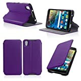 Etui luxe Alcatel Onetouch Idol 4 5.2 pouces violet Slim Cuir Style avec stand -...