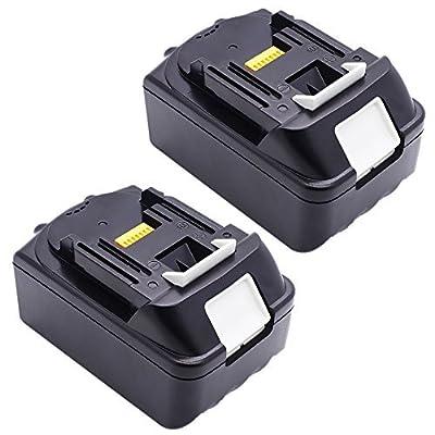 2X 18V 3,0Ah Li-Ion Werkzeugakku Batterie für Akkuschrauber Makita BL1830 BL1815 194204-5 LXT400 (LG Zelle) von PowerWings