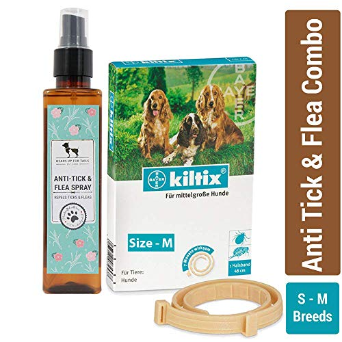 Heads Up For Tails Dog Anti Tick and Flea Combo (Small -Medium Breed)
