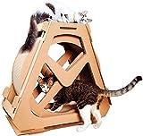 ETJar Katze Laufband Rad Sport Haustier Katze Liefert Wellpappe Katzenkratzbrett Riesenrad Katze Laufrad Gewichtsverlust (Größe: 61X58 Cm),61x58cm