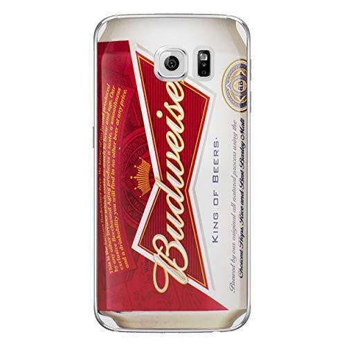 Bier Telefon Hülle/Case für Samsung Galaxy S6 Edge (G925) mit Displayschutzfolie/Silikon Weiches Gel/TPU / iCHOOSE/Budweiser -