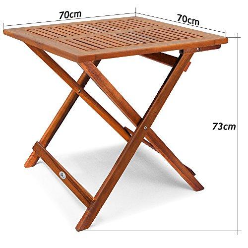 Deuba® Klapptisch Akazie Beistelltisch Holztisch