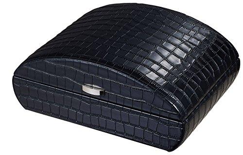 Visol Produkte vhud726Blake Krokodil schwarz Leder Zigarre Humidor (Leder Blake)