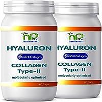 BioCell 120 Hyaluronsäure Kollagen-II Kapseln, hochdosiert 1000mg Collagen/Tag Haut Haare Gelenke von NP-Vital (2x60 Kapseln)