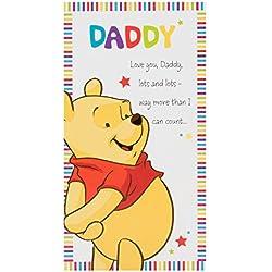 """Hallmark Disney Winnie the Pooh Geburtstagskarte für den Vater """"Love You Lots"""" (in englischer Sprache), Gr. M, schmales Format"""