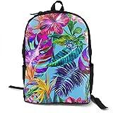 Hipiyoled Tropische Blume Rucksäcke für Frauen Männer, Computer Laptop Rucksack, Casual Book Bag Travel Camping Daypack