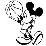 Mickey Maus Sticker, 25 cm x 20 cm, erhältlich in 18 Farben, Kugel Disney, basketball, Fußball, Schlafen, Kinder, Kinderzimmer, Wandtattoo, Vinyl, Fenster und Auto-Wand Windows-Art Aufkleber ThatVinylPlace Wandtattoo,