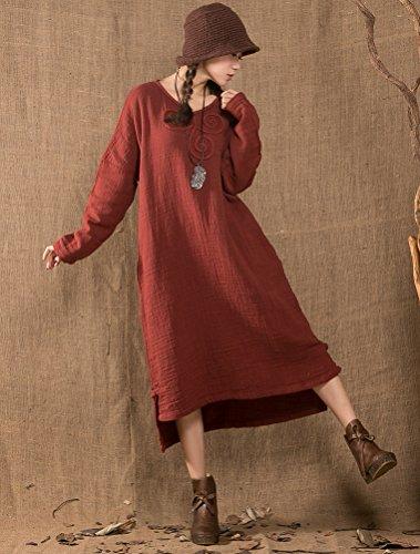MatchLife Femme Haut-bas Robe avec Crochet Vert Noirâtre