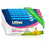 Little's Soft Cleansing Baby Wipes (Pack of 6, 80 Wipes) …