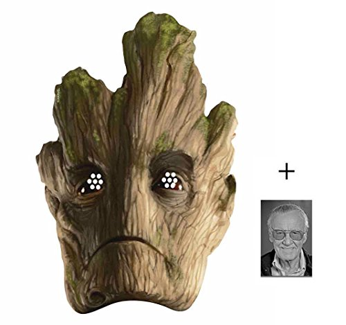 BundleZ-4-FanZ Fan Packs Groot Marvel Guardians of The Galaxy Single Karte Partei Gesichtsmasken (Maske) Enthält 6X4 (15X10Cm) ()