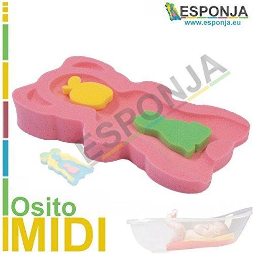Schwamm Teddybär Midi Pink–Größe 48,5x 27,5x 7,5cm Teller-esponjita Fuß Pad für Badewanne oder Dusche für Baden mit...