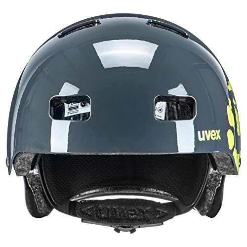 UVEX Kinder Kid 3 Radhelm, Grau (Dirtbike Gray-Lime), 55-58 cm - 4