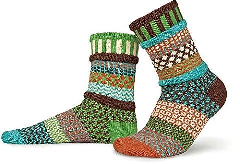 Solmate Socks - Chaussettes mesappariement Fabrique avec des fils de coton recycle Septembre Soleil XL