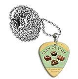 Chocolatier Chocolates Martin Wiscombe Guitare Médiator Pick Collier Necklace Vintage Retro