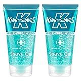 King of Shaves Antibacterial Men's Shaving Gel 150ml TWIN-PACK