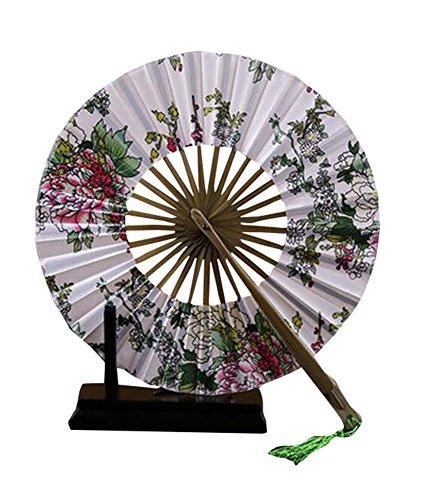 Fan-prop (Sommer Frauen Faltbare runde Fan Silk Handheld Prop Windmill Circle Fan)