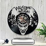 Joker Shape LED record Clock Creative Cadran Rond de vinyle de montre de cadeau pour ami classic Batman Theme Clock...