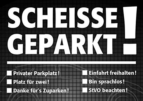 easydruck24de Notizblock Scheiße geparkt!