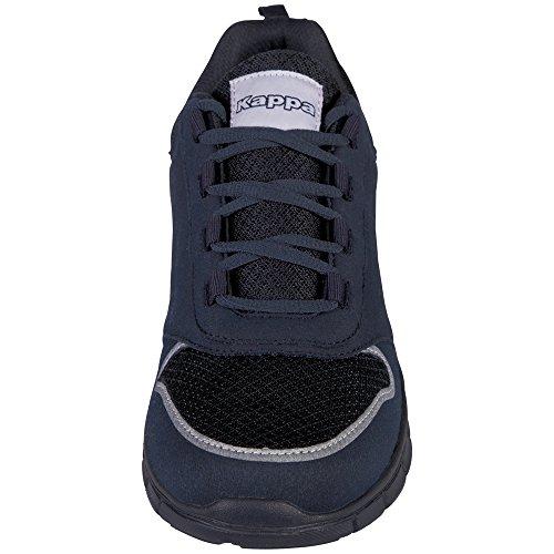 Kappa Amora, Sneakers Basses Mixte Adulte, 1111 Black/Black Bleu (6767 Navy)