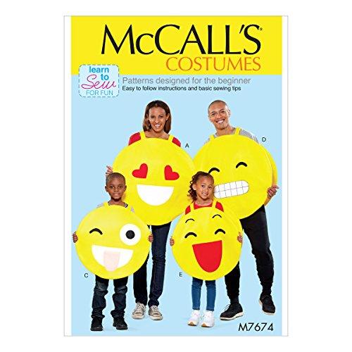Für Erwachsene Mccalls Kostüm Muster - McCall 's Patterns 7674OS Erwachsene/Kinder Kostüme Schnittmuster, Tissue, Mehrfarbig, 17x 0,5x 0,07cm