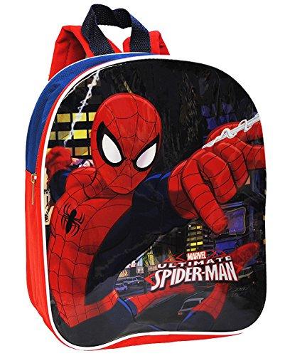 """Preisvergleich Produktbild Rucksack - """" ultimate Spider-Man """" - Tasche für Kinder - wasserfest & beschichtet - Kinderrucksack / groß Kind - Spiderman Spinne - Jungen / Spider Man - z.B. für Kindergarten / Vorschule / Schule"""