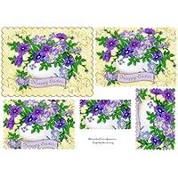 Viola floreale uovo di Pasqua Pyramid by Debra Laraway