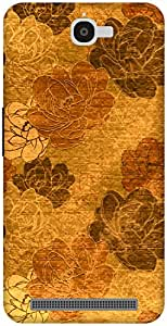 The Racoon Lean Gold Vintage Floral hard plastic printed back case / cover for Alcatel Onetouch Flash 6042D