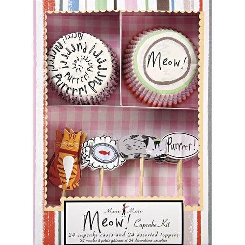 `Meow Žcupcake kit. Set para magdalenas y pastelitos de la colección de gatitos Miau