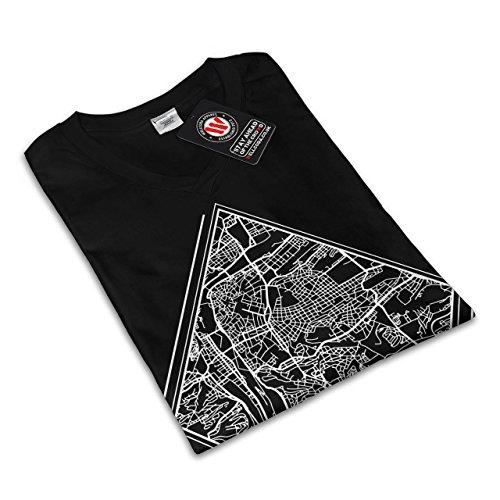 tschechisch Republik Stadt Prag Karte Damen Schwarz S-2XL T-shirt   Wellcoda Schwarz