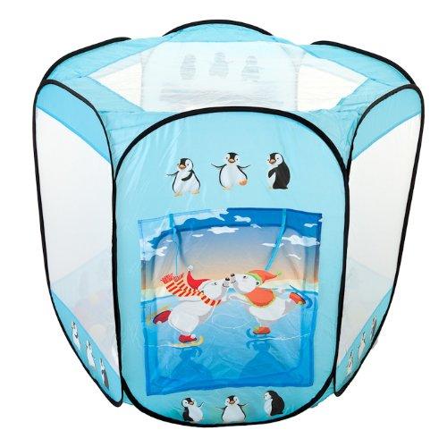 EISBÄREN großes Bällebad pop up Zelt mit 400 bunten Bällen (Eisbär Zelt)