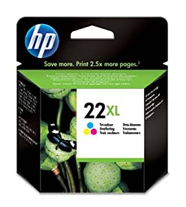 HP 22XL High Yield Tri-color Original Ink Cartridge (C9352CE)