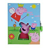 #6: Saamarth Impex New Cartoon Peppa Pig Yellow Kids Diary Book with Lock Pad and Key SI-6521