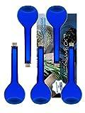 Vitrea 6 Leere Glasflaschen 500 ml Blau Tulip Zum Selbst Abfüllen 0,5 Liter Likörflaschen Schnapsflaschen Essigflaschen Ölflaschen