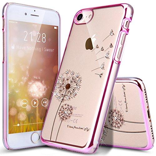 Coque iPhone 7 Plus,Étui iPhone 7 Plus,Coque Étui Case pour iPhone 7 Plus,ikasus® Plating Rose Golden Placage or rose Coque iPhone 7 Plus Silicone Étui Housse Téléphone Couverture TPU Clair éclat Blin pissenlit:Rose