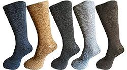 Alfa Thermal Woollen Mens Winter Wear Socks - Pack of 5 ( MultiColor )