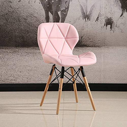 QiXian Radar Chair Nordic Kreative Esstisch und Stuhl Personalisierte Kaffee Stuhl Soft Bag Schmetterling Stuhl Massivholz Bein Stuhl, Rosa, 50 * 45 * 75 cm (Bag Stuhl)